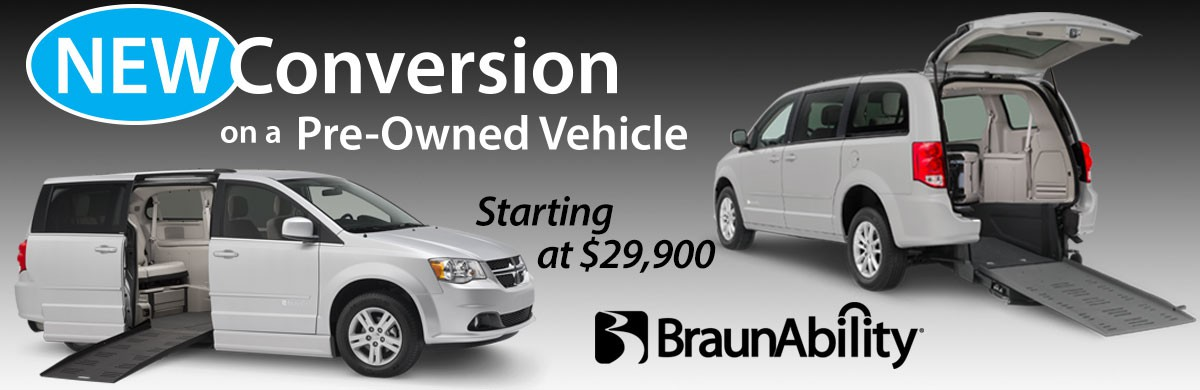 BraunAbility New Conversion on a Pre-Owned Vehicle